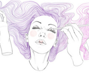 beauty, cosmetics, and drawing image