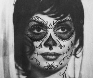 dia de los muertos, pretty, and sugar skull image