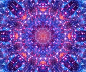 blue, kaleidoscope, and night image