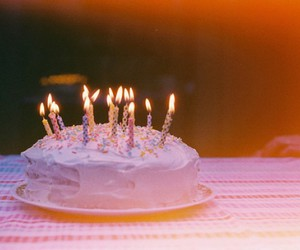 birthday, candles, and cake image