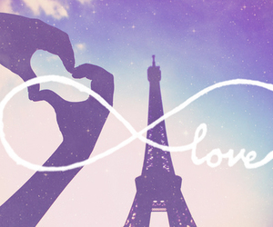 lovers, paris, and love image