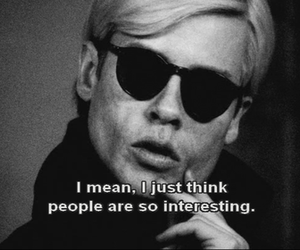 black and white, andy warhol, and people image