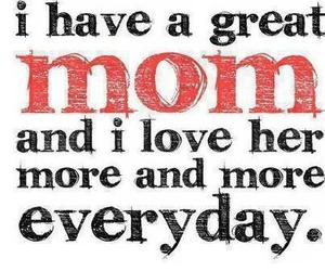 love, mom, and quote image