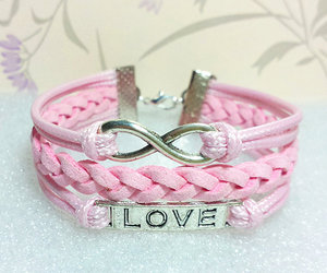 bracelets, couple, and gift image