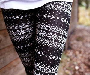 fashion, leggings, and winter image