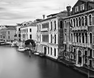 architecture, black and white, and venice image