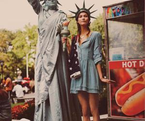 girl, new york, and model image