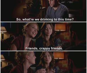 crappy, meredith grey, and friends image