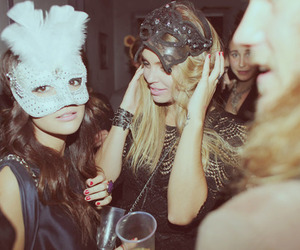 girl, party, and mask image
