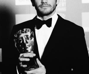 jake gyllenhaal, black and white, and awards image