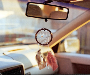 dream catcher, car, and dreamcatcher image