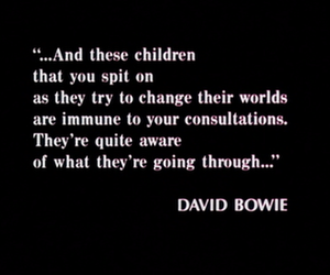 david bowie and quote image