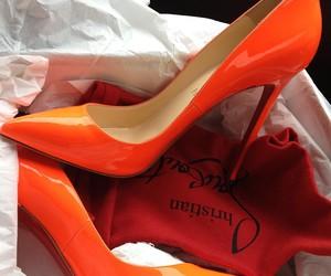 shoes, heels, and orange image