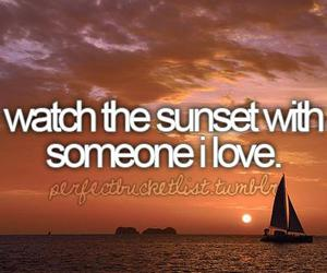 before i die, sunset, and love image