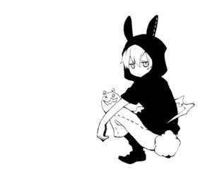 anime, anime boy, and black and white image