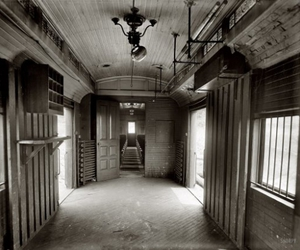 old and train interior image