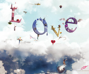 love and clouds image