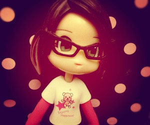 glasses, pink, and cute image