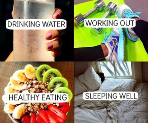 body, motivational, and water image