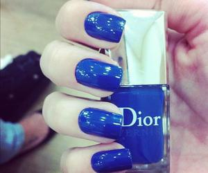 dior, blue, and nails image