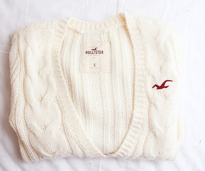 hollister, white, and sweater image
