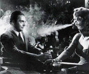 black and white, photography, and smoke image
