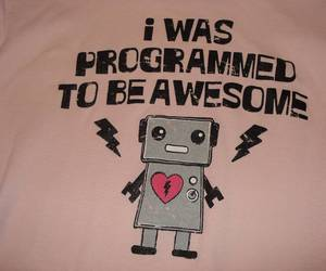 robot, t-shirt, and cute image