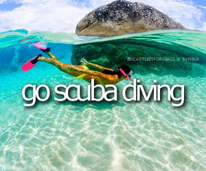 scuba diving, sea, and diving image