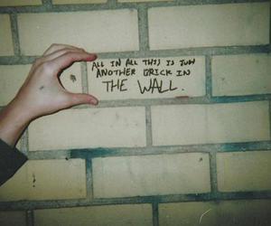 Pink Floyd, wall, and brick image