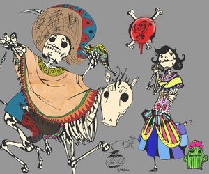 day of the dead, dia de los muertos, and skulls image