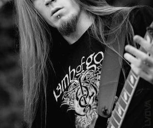 guitar, long hair, and metalhead image