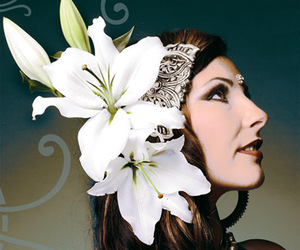bellydance, flowers, and woman image