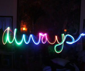always, light, and colors image