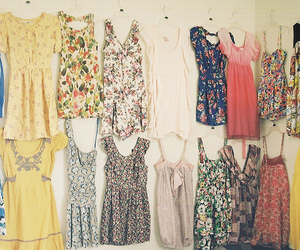 dress, floral, and clothes image