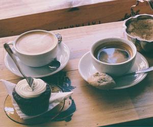 coffee, cupcake, and vintage image