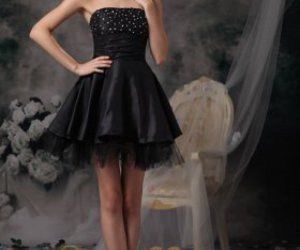 black dress, cocktail dress, and cool image