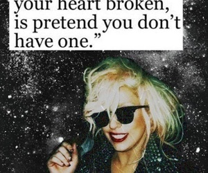 heart, Lady gaga, and quote image