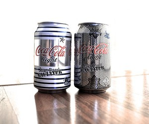 brand, cans, and coca cola image