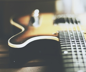 guitar, black and white, and music image