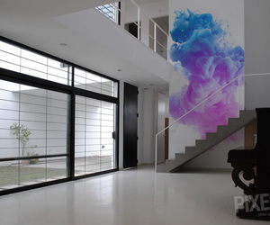cloud, color, and mural image
