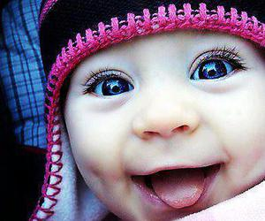 baby, eyes, and smile image