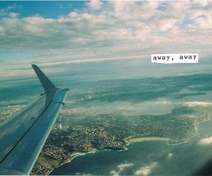 away, sky, and airplane image