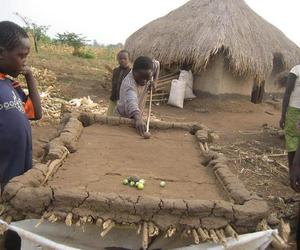 funny picture, pool table, and homemade pool table image