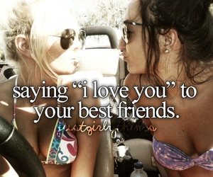 best friends, I Love You, and sisters image