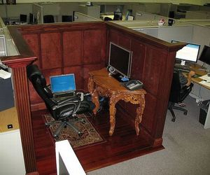 cubicle, funny, and funny picture image