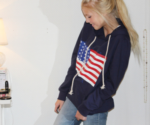 girl, sweater, and blonde image