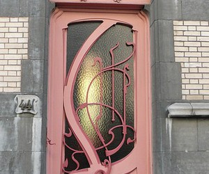 door, pink, and vintage image