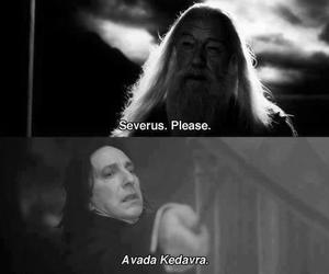 harry potter, avada kedavra, and severus snape image