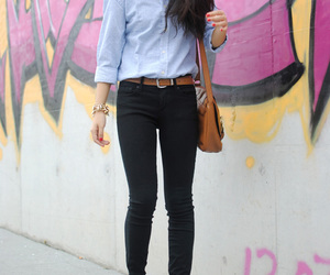 black pants, fashion, and boots image