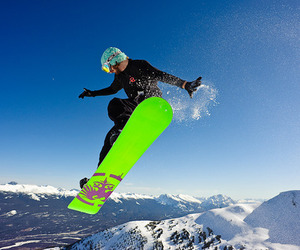 boy and snowboard image